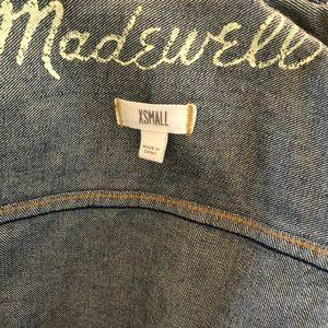 Madewell jean vest
